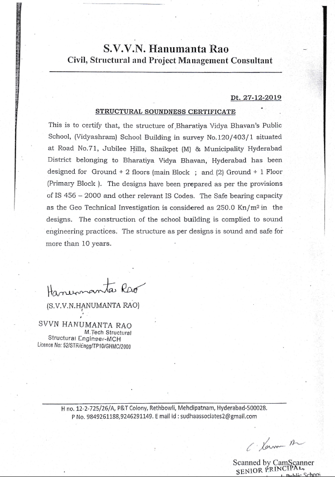 Building Safety Certificate